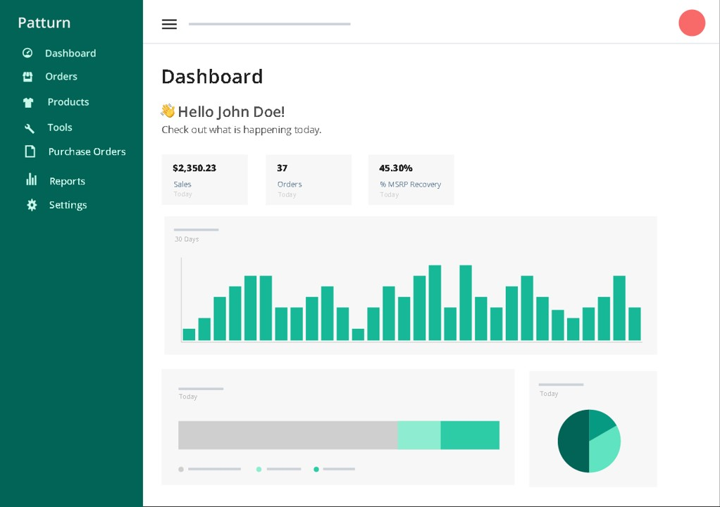 Patturn, Dennis Hoang, dashboard example