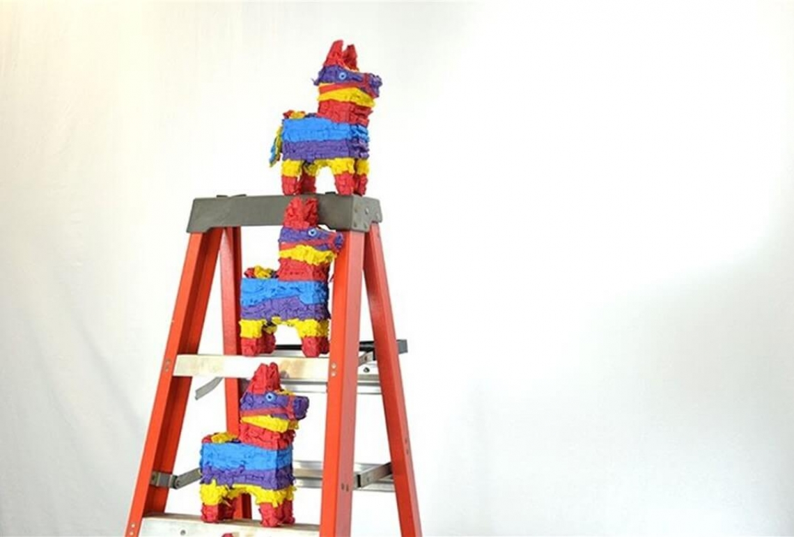 Pinatas on ladder, Pinatagrams, Nathan Butorac